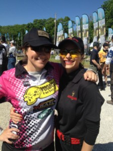 Kelli & I after we finished shooting our last event at the 2013 MidwayUSA NRA Bianchi Cup